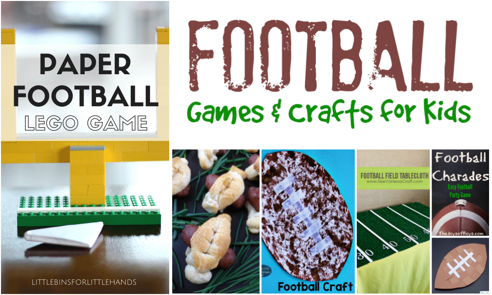 Football Themed Fun For Gametime With Kids