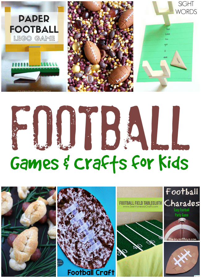 Football Games and Crafts for Kids
