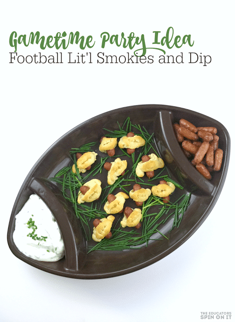 Football shaped Appetizers with Little Smokies