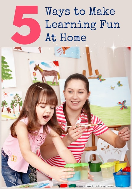 5 Ways to Make Learning Fun At Home : Parenting tips for little ones