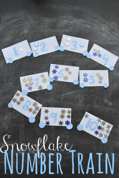 Snowflake Number Train Game for Kids