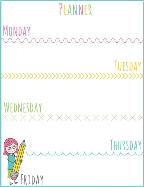 Setting Schedules for After School: PLUS Printable Planner