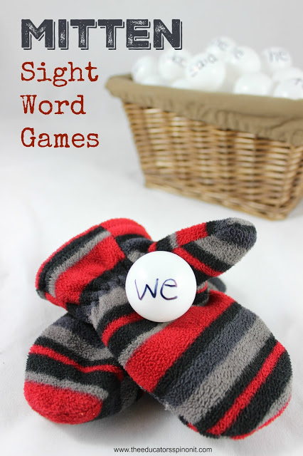 MItten Sight Word Games