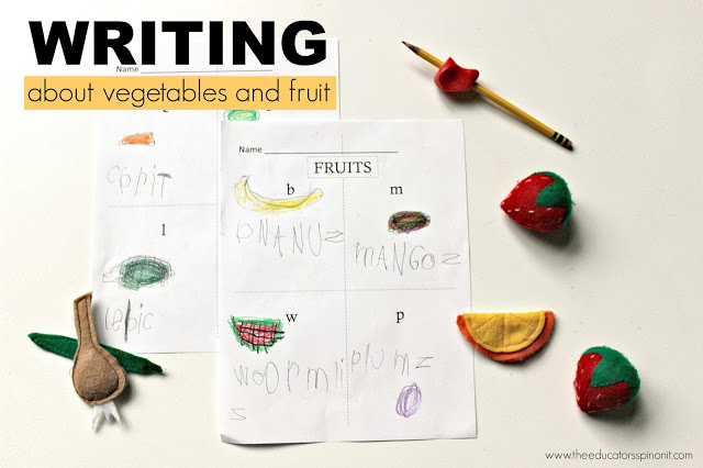 Writing About Fruits and Vegetables