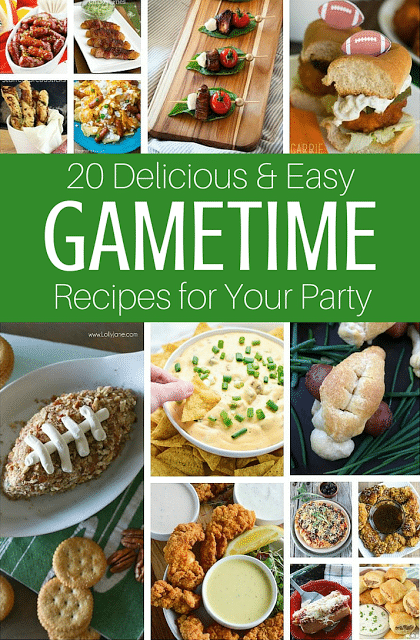 20 Delicious and Fun Gametime Appetizer Recipes for your Party.