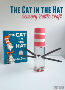 Cat In the Hat Sensory Bottle Craft