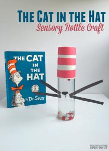 Cat In the Hat Sensory Bottle Craft