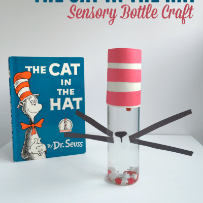 The Cat in the Hat Inspired Sensory Bottle Craft