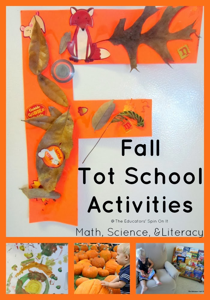 Fall Tot School Activities including Math, Science  Literacy from The Educators' Spin On It