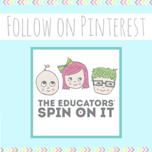 Follow on Pinterest The Educators' Spin On It with logo