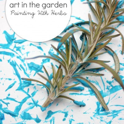 Art in the Garden: Herb Painting Activity