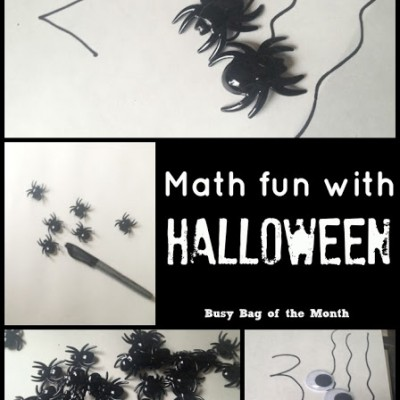 Halloween Math Fun {Busy Bag of the Month}