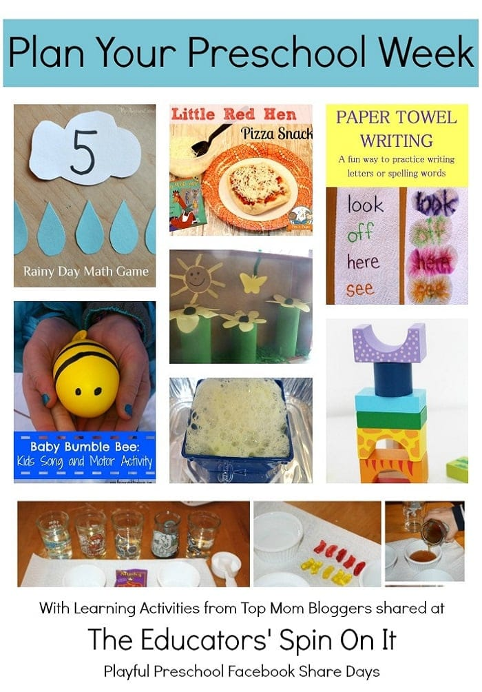 Plan for Preschool Week Lesson Plan