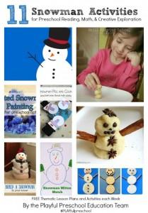Snowman Activities for Preschoolers