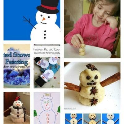3 Fun & Easy Snowman Vocabulary Activities for Preschool