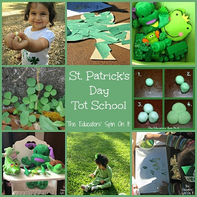St. Patrick's Day Tot School at The Educators' Spin On It
