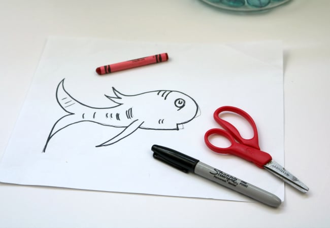 hand drawn fish from The Cat in the Hat Book