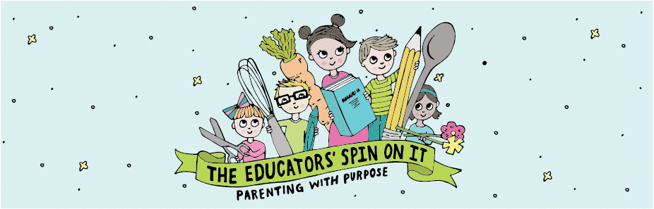 The Educators Spin On It Logo with several kids of various ages with kids activities.