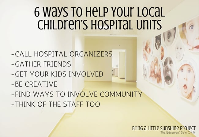 6 Ways to Support Local Children's Hospital Units for community outreach