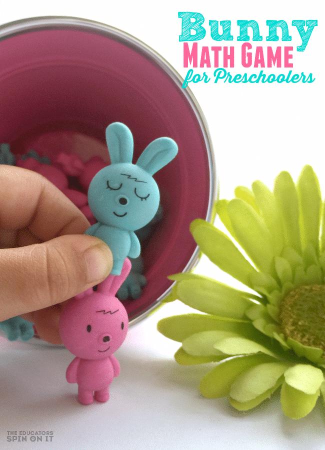 DIY Easter Bunny Math Games for Preschoolers