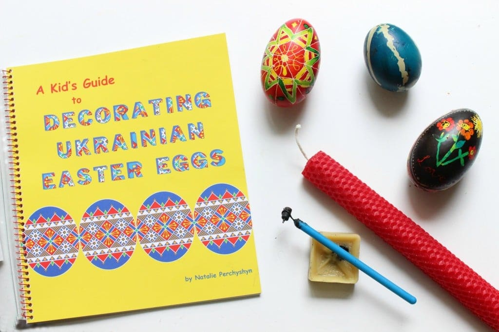 Decorating Ukrainian Easter Eggs with Kids Supplies