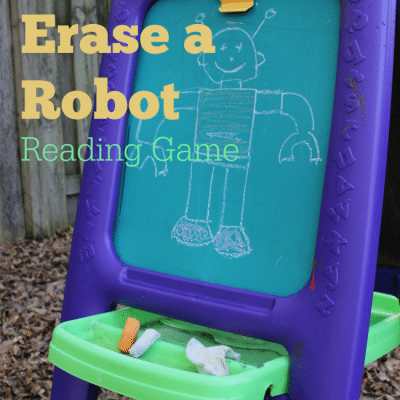 Erase a Robot Reading Game