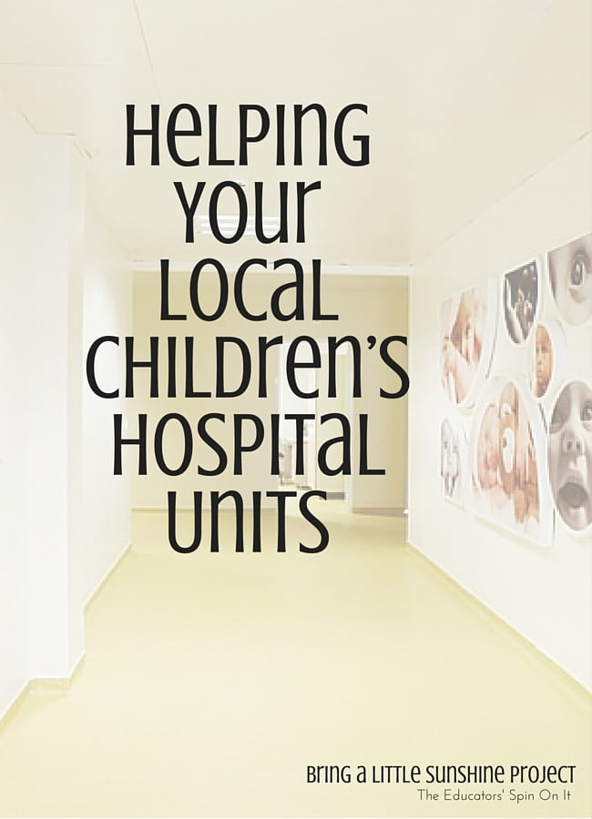 Helping your local Children's Hospital Units for Community Outreach