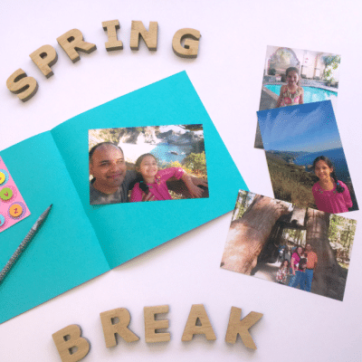 How to Make a Spring Break Scrapbook with Kids