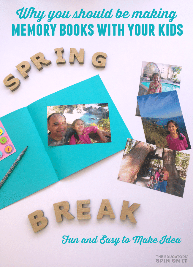 Spring Break Scrapbook Idea for Kids
