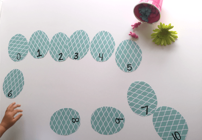Sequencing Eggs Game for Easter Math