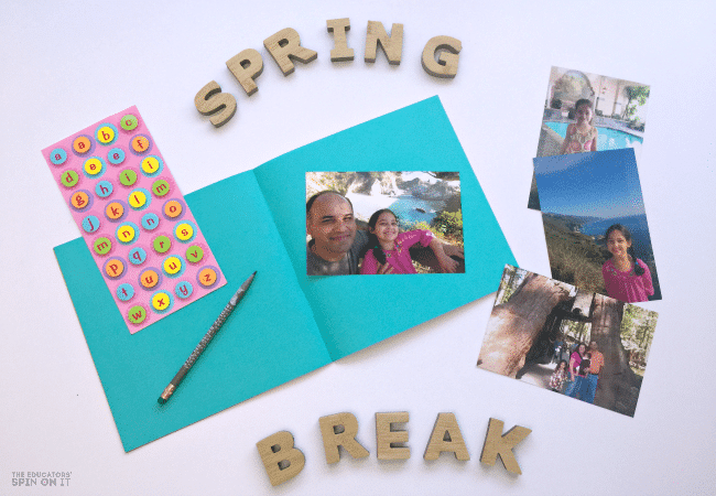 Spring Break Memory Book Idea for Kids that's budget friendly and Easy to make!