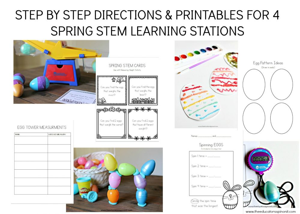 Spring STEM Learning Stations and Printables