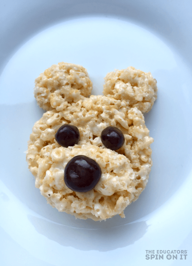 Teddy Bear Rice Krispie Treat Recipe for a special Teddy Bear Picnic Dessert for Kids