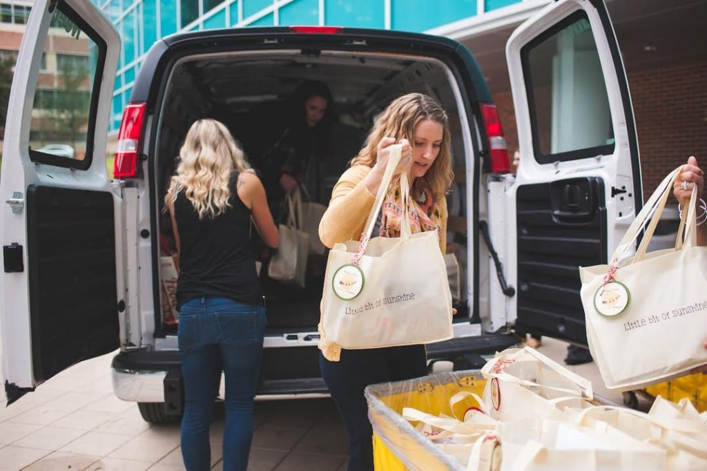 bags in van for PICU for Supporting Local Children's Hospitals