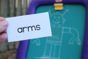 word card arm for reading robot game