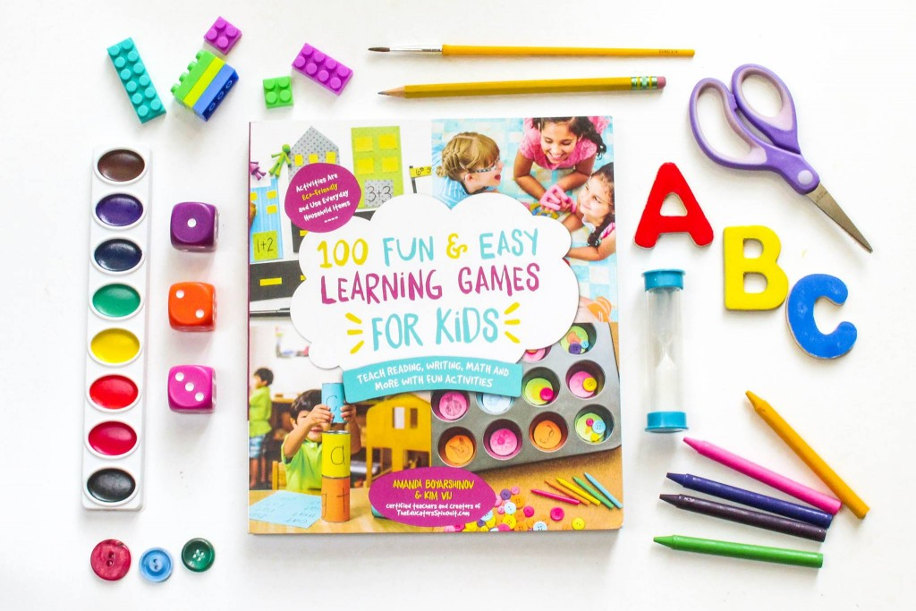 100 Fun and Easy Learning Games for Kids with learning materials