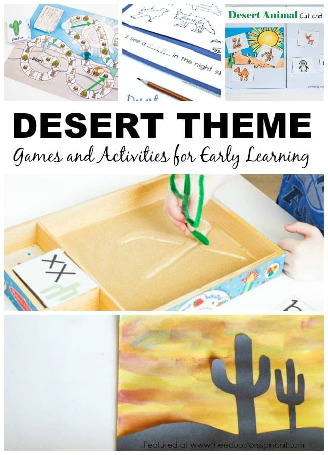 Desert Theme Games and Activities for Early Learning