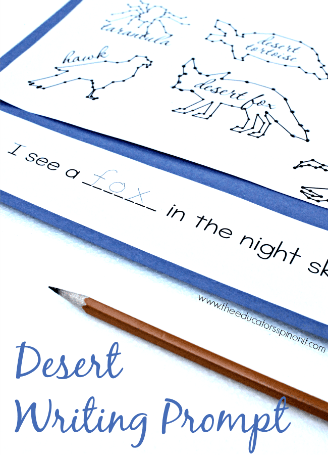 Desert Writing Prompt: a fun and easy way to connect writing and science during your desert thematic unit.