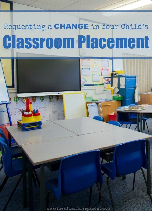 Requesting a Change of Classroom for Your Child