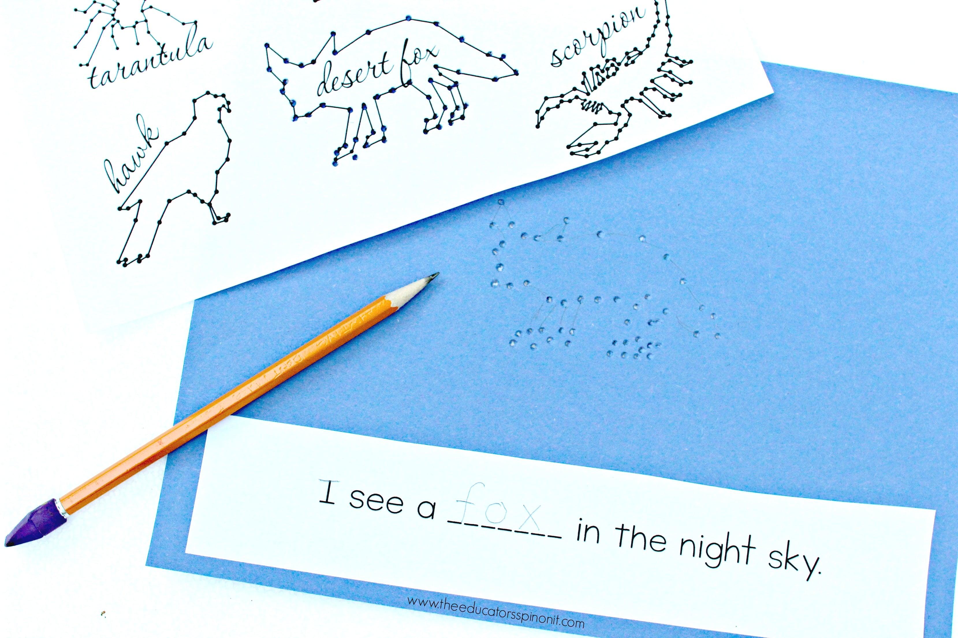 Desert Animal Writing Prompt for Kids