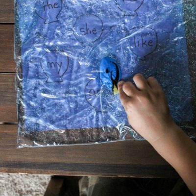 Finding Sight Words with Dory Sensory Bag