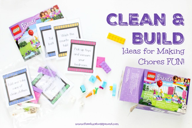 LEGO FRIENDS CHORE FUN! Ideas for making chores fun!
