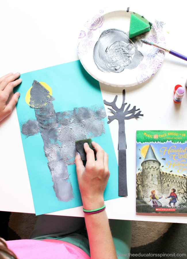 Magic Tree House Chapter Book Series List of 54 Activities for kids to make and do with each book.  Stamp a castle craft.