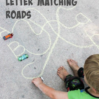 Learn the alphabet with Cars: How to make Letter Matching Roads