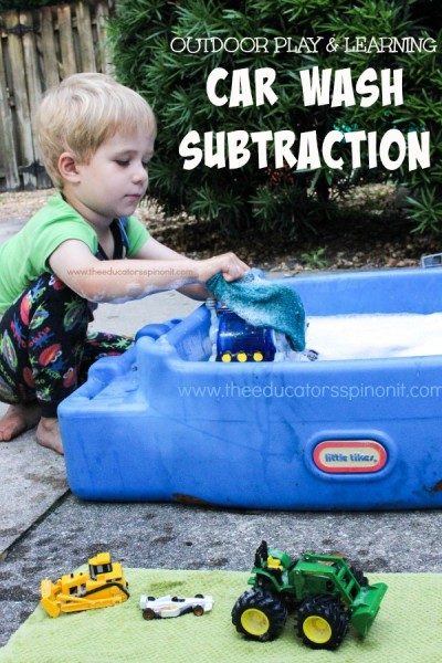 SPLASH, GIGGLE, and LEARN. How to set up Car Wash Subtraction