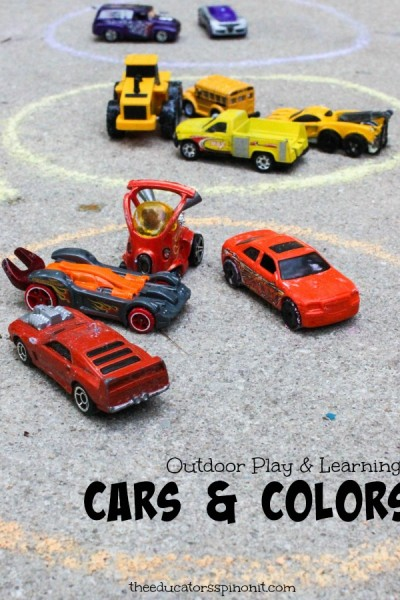 Car Color Sort:  Outdoor Math for Littles who LOVE Matchbox Cars