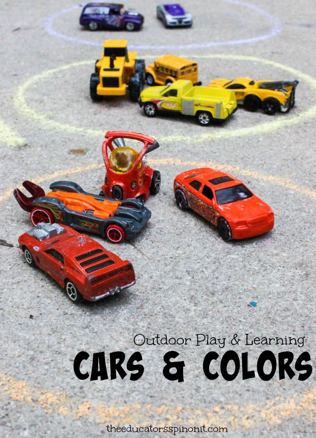 Outdoor Car Play and Learning Cars and Colors