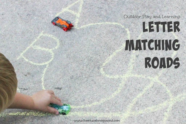 Outdoor Car Play and Learning - Letter matching roads