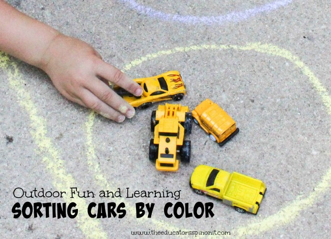 Car Color Sort : Child sorting colors by the color yellow