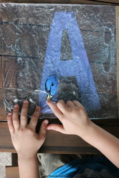 Swimming Letters with Dory Sensory Bag